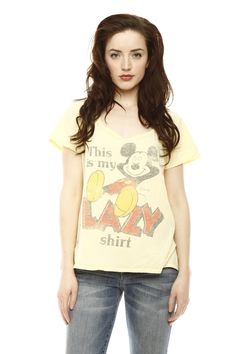 Don't like Mickey but I could use a lazy shirt!