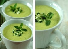 chilled avocado, fennel + mint soup
