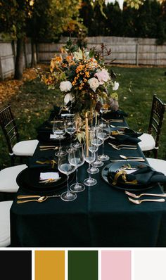 Earthy tones and jewel hues create a welcoming palette for a lovely soirée.