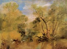 Turner, Joseph Mallord William: Weiden neben einem Strom (Willows beside a Stream)