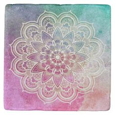 Mandala Tyedye Spiritual Marble Coasters - home gifts ideas decor special unique custom individual customized individualized
