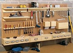 Pegboard Storage System