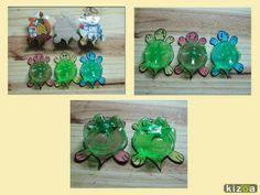 Passo a passo de Mealheiro com o formato de Tartarugas, feito com garrafas de Plástico (PET) e Caixas de Cartão. Artesanato e Reciclagem. Lembranças de Aniversário.