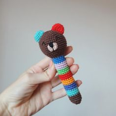 Сrochet animal rattles free bear pattern