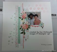 birthday bouquet  stampin' up! scrapbook layout