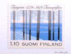 Tampere 200 vuotta mk 1979 Tammerfors 200 år mk anniversary of Tampere mk 4 000 000 kplLape: sininen, valkoinen / blue, whiteLeim