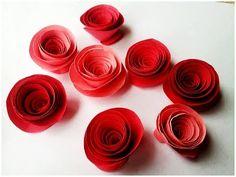 Tutorial per creare delle semplici roselline di carta - Il blog italiano sullo Shabby Chic e non solo