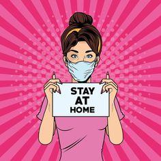 Art Pop, Crazy Wife, Pop Art Women, Ads Creative, Stay At Home, Woman Face, Clipart, Art Images, Vector Art