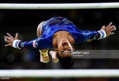 Elissa Downie of Great Britain competes on the uneven bars during Women's qualification for Artistic Gymnastics on Day 2 of the Rio 2016 Olympic Games at the Rio Olympic Arena on August 7, 2016 in Rio de Janeiro, Brazil.  (Photo by David Ramos/Getty Images)