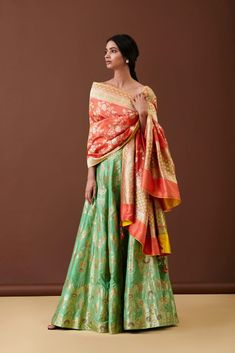 Where To Shop Banarasi Lehengas & Sarees In Delhi? - : Where To Shop Banarasi Lehengas & Sarees In Delhi? Indian Dresses, Indian Outfits, Indian Clothes, Banarasi Lehenga, Brocade Lehenga, Lengha Choli, Anarkali, Mehendi Outfits, Saree Shopping