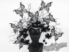 Black Butterfly Head