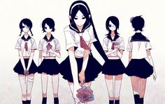 Tags: Fanart, Sayonara Zetsubou Sensei, Pixiv, Kitsu Chiri, Fujiyoshi Harumi, Fuura Kafuka, Kobushi Abiru, Hito Nami, Pixiv Id 220530