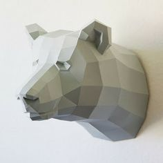 Papercraft Bear template by Paperwolfs Shop World of Driftwood: Etsy treasures