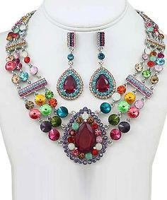 Colorful Evening Necklace Set
