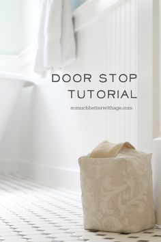 Make your own door stop from scrap fabric, beans and cotton batting. Made by  @betterwithage1/  #DIY #tutorial
