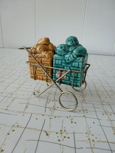 Fruit Cart Vintage Salt and Pepper Shaker Set by VintageChinchilla