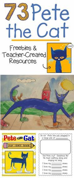 Pete the Cat is the go-to book for many classrooms. Here are free Pete the Cat activities, videos and books - perfect for kindergarten and first grade. Kindergarten Literacy, Kindergarten Classroom, Literacy Activities, Classroom Ideas, Kindergarten Library Lessons, Kindergarten Projects, Kindergarten Language Arts, Preschool Books, Preschool Lessons