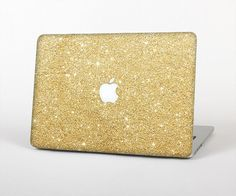 The Gold Glitter Ultra Metallic Skin for the Apple MacBook Air - Pro or Pro with Retina Display (Choose Version)