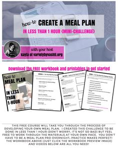 How to Meal Plan In