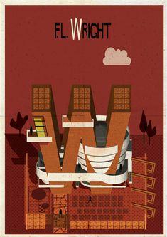 Federico Babina creates Archibet, an illustrated alphabet of architects