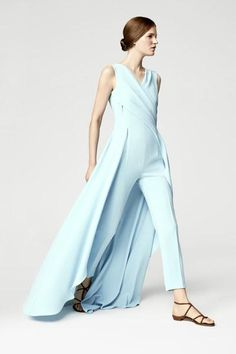 Escada Spring 2016 collection has the glamour of a gown and the comfort of a jumpsuit
