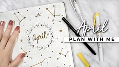 hang out with me while I set up my bullet journal for april! :) if you recreate my spreads, send me a pic! love y'all! OPEN FOR DETAILS FIRST BUJO SETUP VIDE...