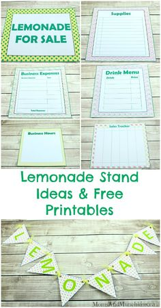 Lemonade Stand Free Printables - turning a lemonade stand into a fun lesson for kids on running their own business