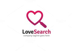 Love Search Logo by XpertgraphicD on @creativemarket