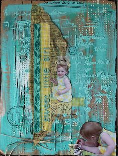 lots of texture on this scrapbook page    - Scrapmanufaktur: sweet little girl