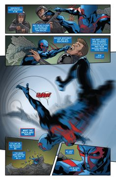Miguel gets knocked for a loop in Spider-Man 2099 #9