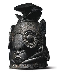 Mende Helmet Mask (ndoli jowei) by the Master of Nguabu, Sierra Leone | Lot | Sotheby's