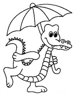 crocodiles coloring page 3 - Crocodile Coloring Pages Kids