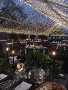 Like the greenery and lighting Dance Floor Wedding, Dream Wedding, Chic Wedding, Marquee Wedding, Wedding Venues, Clear Marquee, Outdoor Tent Wedding, Clear Tent, Wedding Hall Decorations