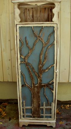 Tree - Shelf - Shelving - Handmade - Honey's Treasures - Rustic - Bath - Kitchen - Laundry Room - Storage - Organize - Organization