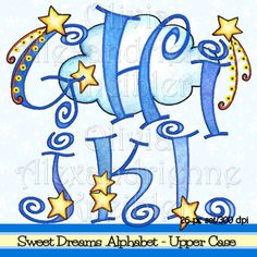 Sweet Dreams Alphabet Upper Case - Personal and Limited Commercial Use Hand Lettering Alphabet, Alphabet Drawing, Letter Fonts, Alphabet Fonts, Calligraphy Letters, Alphabet Letters, Monogram Letters, Bubble Letters, Creative Lettering
