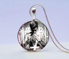 Justin Bieber Necklace Justin Bieber Jewelry by GirlPowerPendants - Are you a Beilieber?! Know someone who is?! Give her this amazing Justin Bieber Purpose Album Cover Necklace and she'll be so thrilled you got her such a personalized gift.