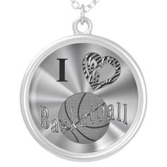 Silver Basketball Necklaces for Girls Animal Print.  Basketball Stuff With many being Customizable with YOUR NAME and or NUMBER.  Tons more Custom and Personalized Basketball Gifts CLICK HERE: http://www.zazzle.com/littlelindapinda/gifts?cg=196808750908670951&rf=238147997806552929*/  ALL of Little Linda Pinda Designs CLICK HERE: http://www.Zazzle.com/LittleLindaPinda*/