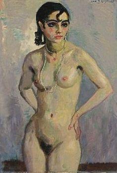 Jan Sluijters - Staand naakt (1925)