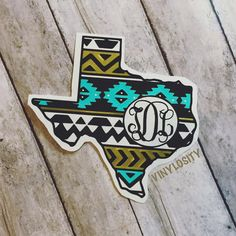 Buy yours today!  Great quality and prices! Texas Aztec Monogram Decal by VinylosityCo on Etsy  Cute decal for Car, Mug, Yeti...oh the possibilities!