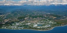 Sochi Olympic park from above