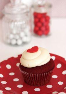 Red Polka Dot Cake Plate