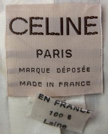 from a suit - Courtesy of catwalkcreative Clothing Labels, Celine, 1980s, Vintage Fashion, Meet, Personalized Items, Tags, My Style, Prints