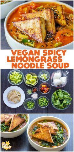 Vegan Spicy Lemongrass Noodle Soup | The Viet Vegan