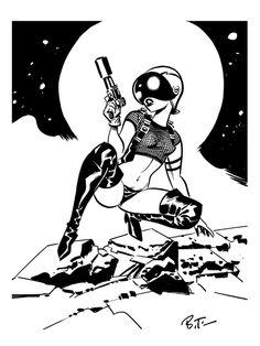 Spacegirl by Bruce Timm