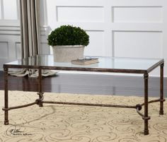 Warring Iron Coffee Table traditional coffee tables