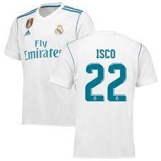 Isco Real Madrid adidas 2017 18 Home Replica Patch Jersey - White -  114.99  Asensio d80ddafee8