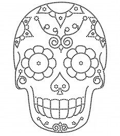 Holidays Halloween, Halloween Crafts, Halloween Decorations, Sugar Skull Tattoos, Sugar Skull Art, Skull Coloring Pages, Coloring Books, Embroidery Stitches, Embroidery Designs