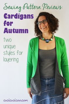 Autumn Cardigan Sewing Pattern Review: Laurelhurst and Drop Pocket - Cucicucicoo