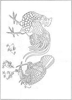 변상벽 자웅화명 간송미술관 Korean Painting, Art Template, Cool Sketches, Folk Art, Birds, Drawings, Illustration, Roosters, Tattoo Ideas