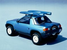 Nissan Judo Concept (1987) –  Shown at the 1987 Tokyo Auto Exposition, the Judo was a 2 passenger all-terrain vehicle with cargo space and a removable hardtop roof. #ConceptCar #Offroad #Nissan
